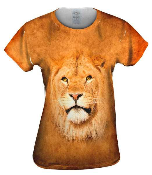 Serious Lion Face Womens Top