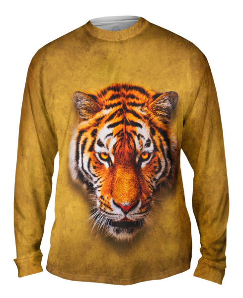 Tiger Face Mens Long Sleeve