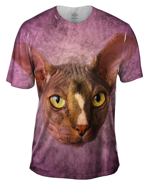 Sphynx Cat Face Mens T-Shirt