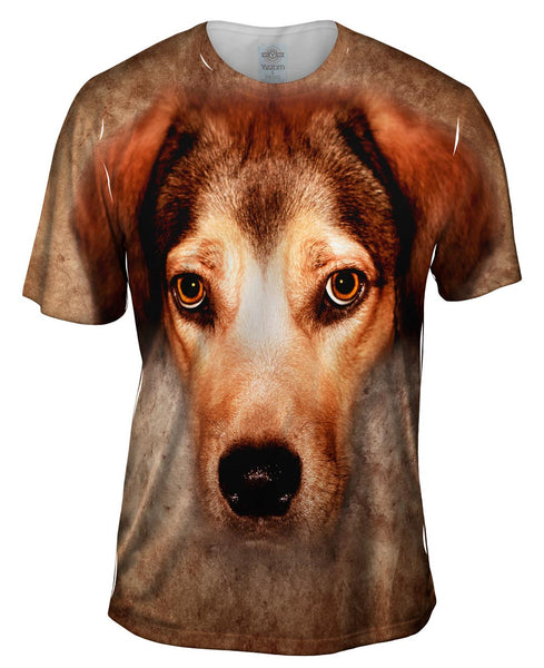 Beagle Dog Face Mens T-Shirt