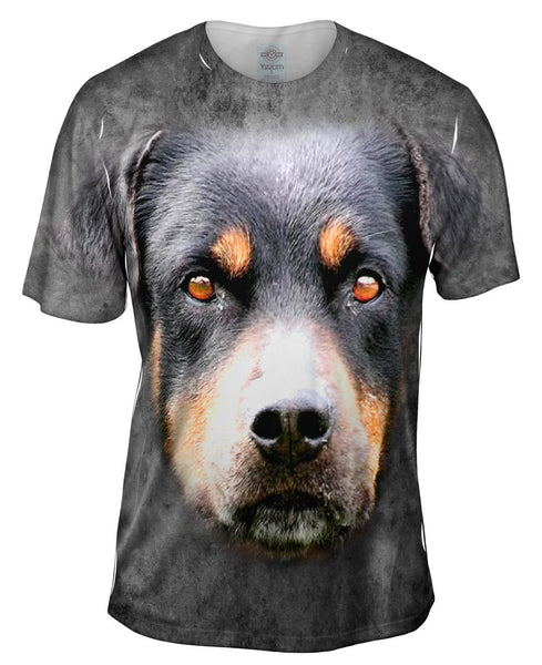 Rottweiler Dog Face Mens T-Shirt