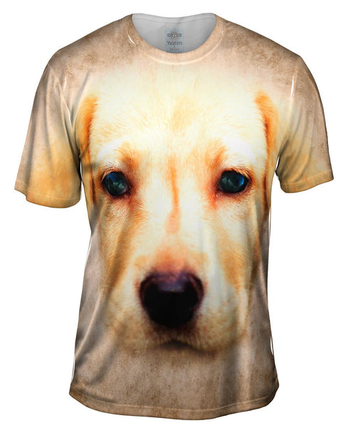 Labrador Puppy Dog Face Mens T-Shirt