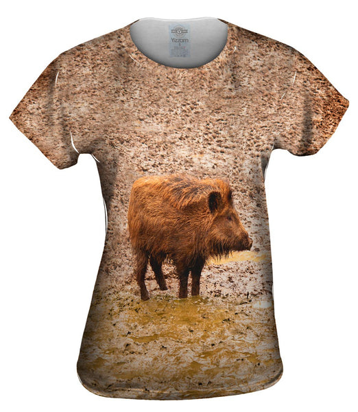 Wild Boar Pig Sty Womens Top
