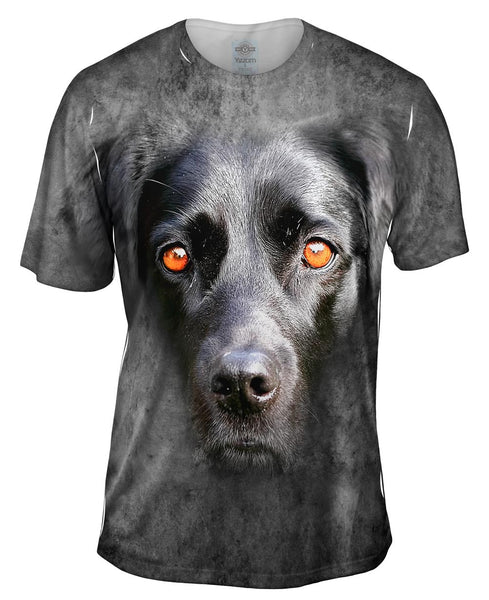 Are You Serious Black Labrador Dog Face Mens T-Shirt