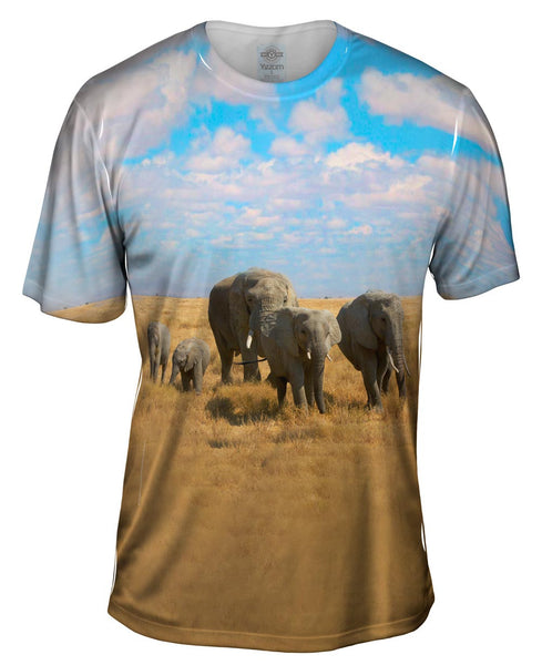 African Elephant Family Mens T-Shirt