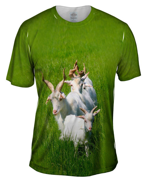 Goat Parade Mens T-Shirt