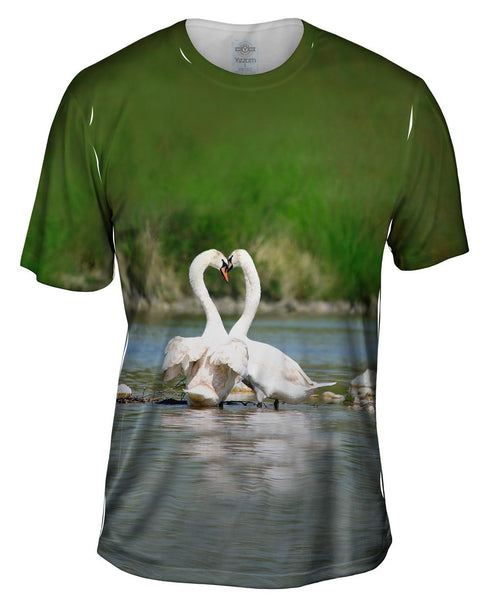 Swan Love Times Mens T-Shirt