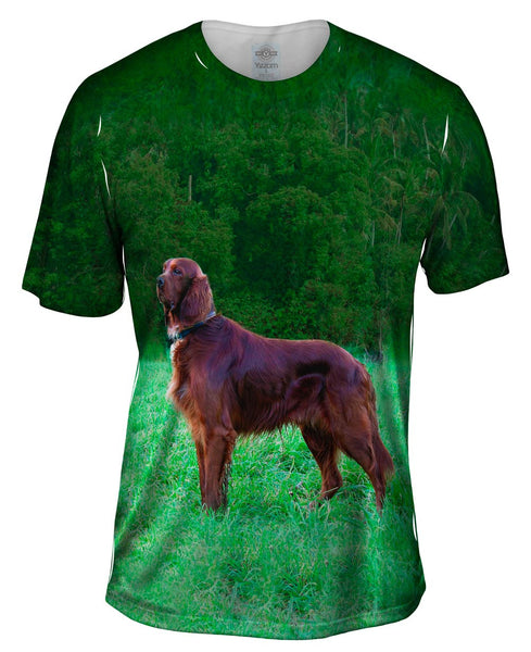 Setter Dog On The Scent Mens T-Shirt