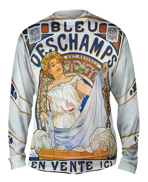 "Alphonse Mucha - ""Bleu Deschamps"" En Vente Ici (1897) Mens Long Sleeve"