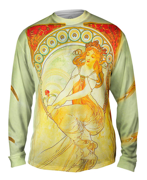 "Alphonse Mucha - ""The Arts Painting"" (1898) Mens Long Sleeve"
