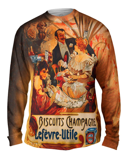 "Alphonse Mucha - ""Biscuits Champagne Lef Mens Long Sleeve"