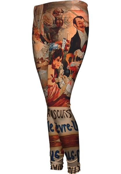 "Alphonse Mucha - ""Biscuits Champagne Lefèvre-Utile"" (1896) Womens Leggings"