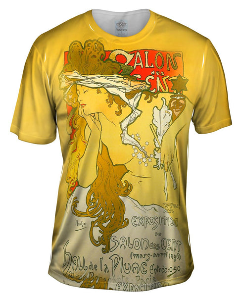 "Alphonse Mucha - ""Salon Of The Hundreds"" Salon des Cent (1896) Mens T-Shirt"