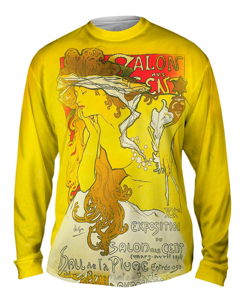 "Alphonse Mucha - ""Salon Of The Hundreds"" Salon des Cent (1896) Mens Long Sleeve"