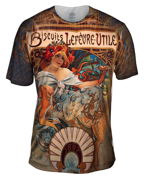 "Alphonse Mucha - ""Biscuits Lefèvre-Utile"" (1896) Mens T-Shirt"