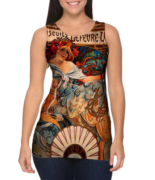 "Alphonse Mucha - ""Biscuits Lefèvre-Utile"" (1896) Womens Tank Top"