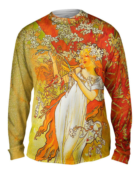 "Alphonse Mucha - ""Spring"" (1896) Mens Long Sleeve"