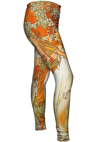 "Alphonse Mucha - ""Spring"" (1896) Womens Leggings"