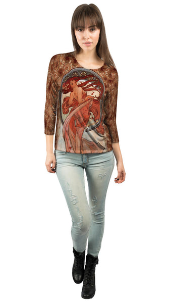 "Alphonse Mucha - ""Dance"" (1898) Womens 3/4 Sleeve"