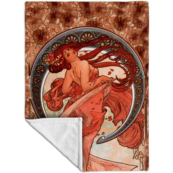 "Alphonse Mucha - ""Dance"" (1898) Fleece Blanket"