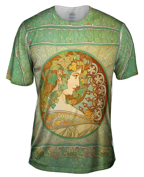 "Alphonse Mucha - ""Laurel"" (1901) Mens T-Shirt"