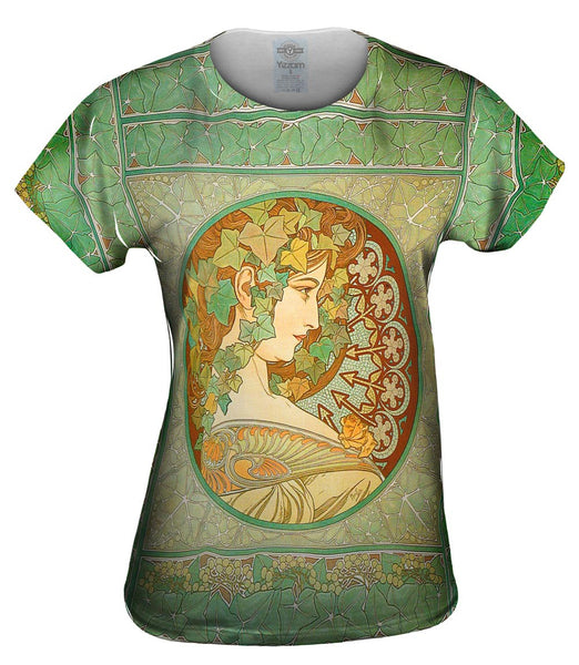 "Alphonse Mucha - ""Laurel"" (1901) Womens Top"