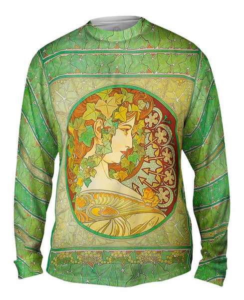 "Alphonse Mucha - ""Laurel"" (1901) Mens Long Sleeve"
