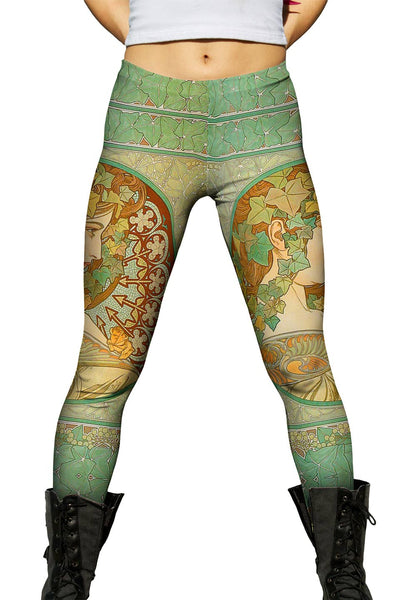 "Alphonse Mucha - ""Laurel"" (1901) Womens Leggings"