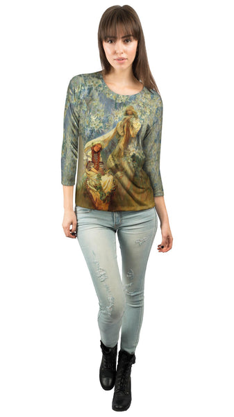 "Alphonse Mucha - ""Madonna of the Lilies"" (1905) Womens 3/4 Sleeve"