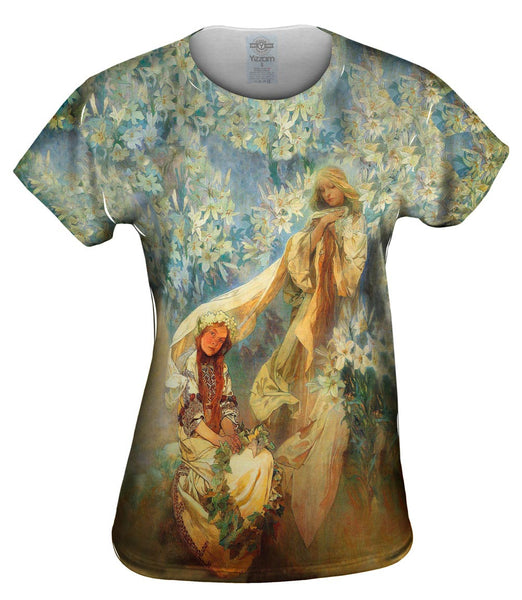 "Alphonse Mucha - ""Madonna of the Lilies"" (1905) Womens Top"