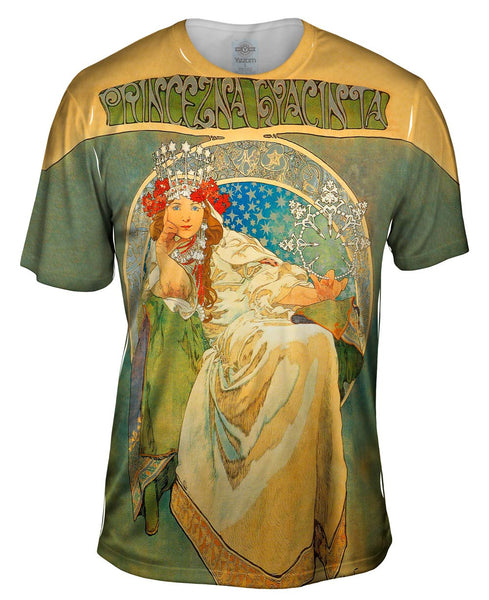 Alphonse Mucha-Princess Hyacinth-1911 Mens T-Shirt