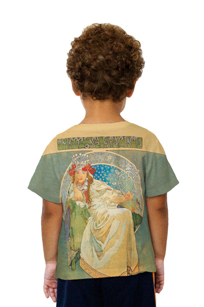 Kids Alphonse Mucha-Princess Hyacinth-1911 Kids T-Shirt