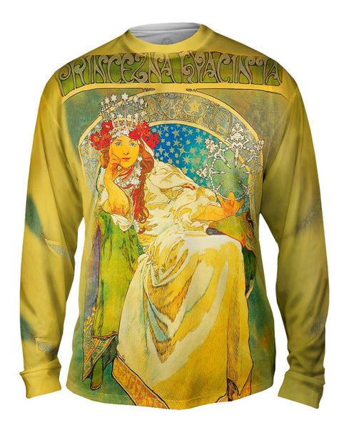Alphonse Mucha-Princess Hyacinth-1911 Mens Long Sleeve