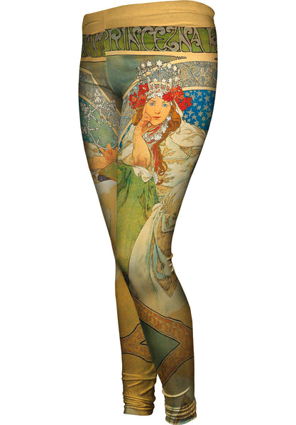 Alphonse Mucha-Princess Hyacinth-1911 Womens Leggings
