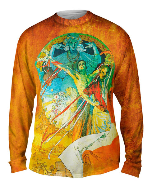 Alphonse Mucha-8th Sokol Festival-1912 Mens Long Sleeve