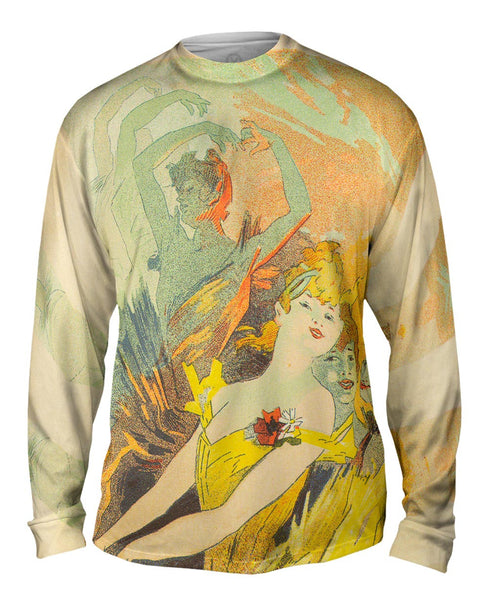 Danseur Colore de Nouveau (Colorful Dancer) Mens Long Sleeve