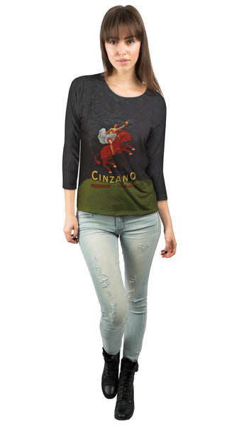 "Leonetto Cappiello 005 - ""Vermouth Cinzano"" (1921) Womens 3/4 Sleeve"