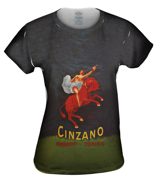 "Leonetto Cappiello 005 - ""Vermouth Cinzano"" (1921) Womens Top"