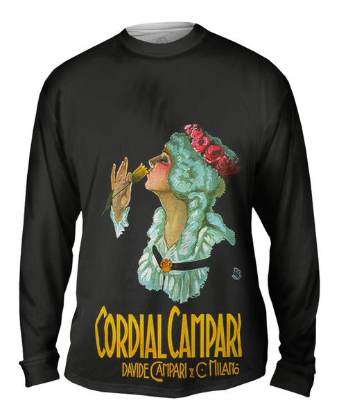 "Achille Mauzan 001 - ""Cordial Campari"" (1921) Mens Long Sleeve"