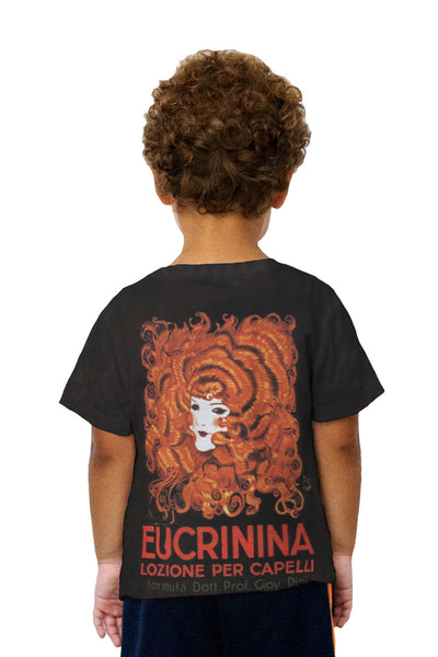 "Kids Achille Mauzan 002 - ""Eucrinina, Hair Lotion"" (1921) Kids T-Shirt"
