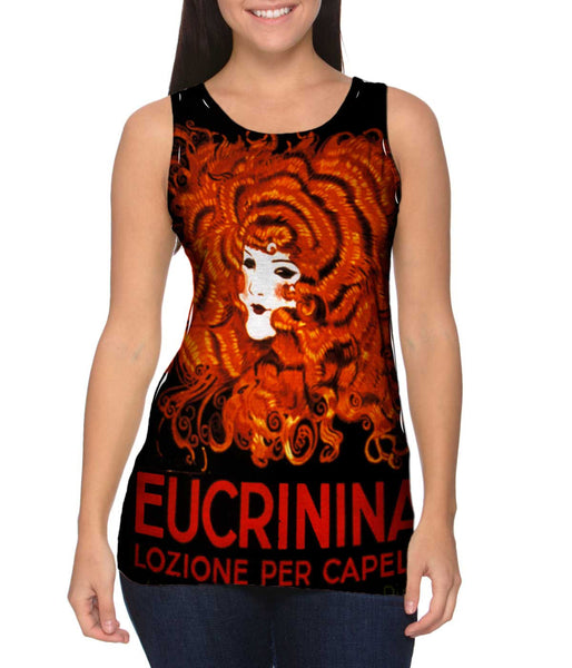 "Achille Mauzan 002 - ""Eucrinina, Hair Lotion"" (1921) Womens Tank Top"