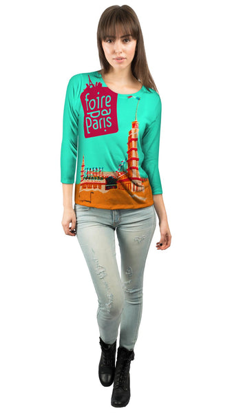 Foire de Paris France Womens 3/4 Sleeve