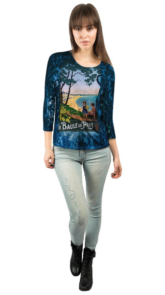 La Baule Les Pins France Womens 3/4 Sleeve