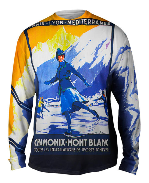 Chamonix Mont Blanck France Mens Long Sleeve