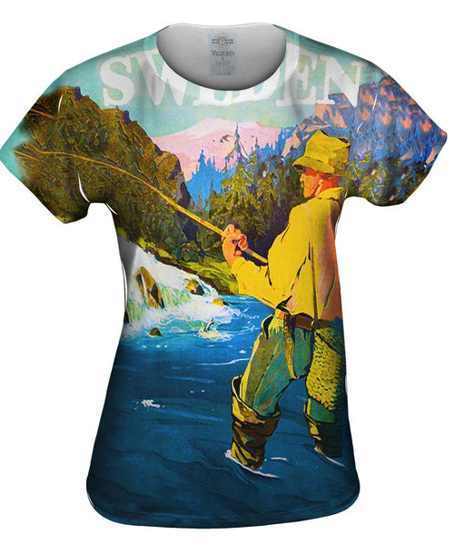 Sweden Fly Fishing 035 Womens Top