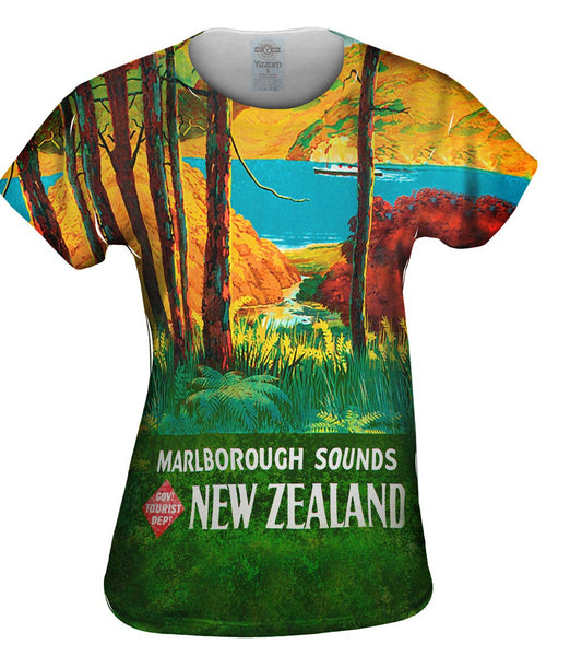 New Zealand Marlborough Sounds 036 Womens Top
