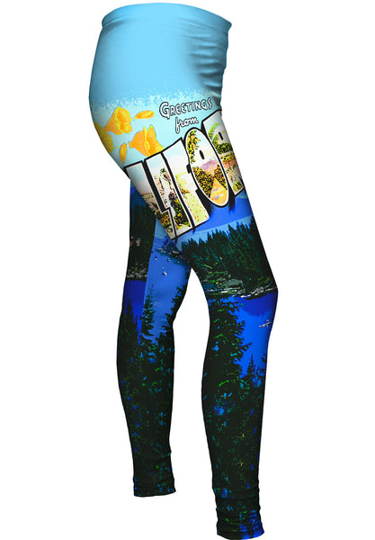 Greetings from California 044 Womens Leggings