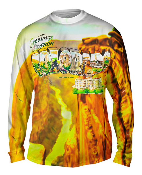 Greetings From Colorado 046 Mens Long Sleeve