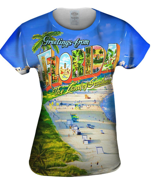 Greetings from Florida - The Land of Sunshine Womens Top