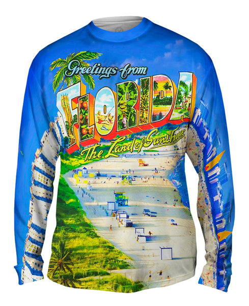 Greetings from Florida - The Land of Sunshine Mens Long Sleeve